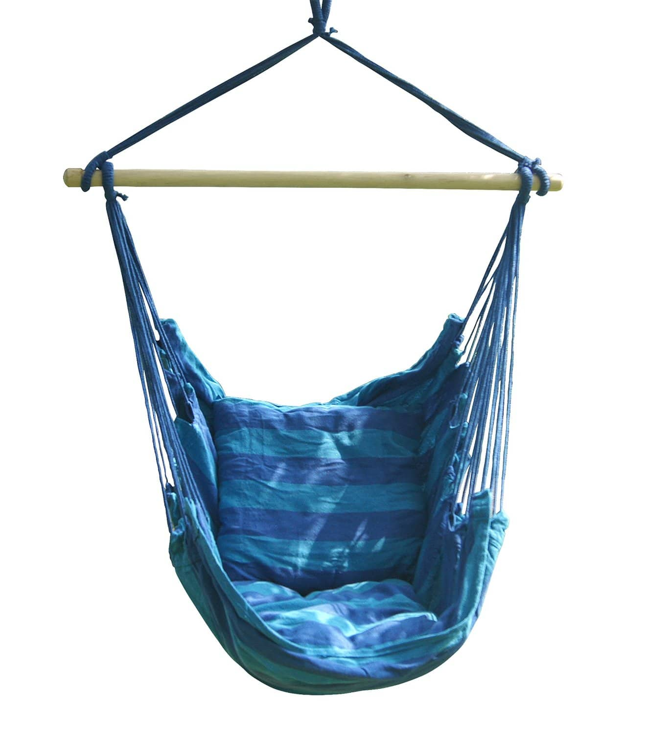 Air blasters hanging rope chair swing hanging hammock for Hanging couch swing