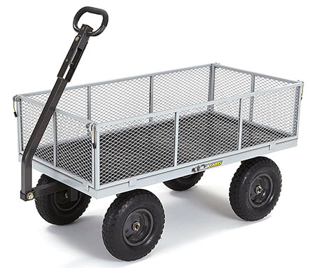 Gorilla Cart GOR1001-COM Heavy Duty Steel Utility Cart