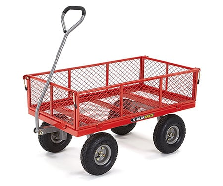 Gorilla Cart GOR800-COM Steel Utility Cart With Removable Sides